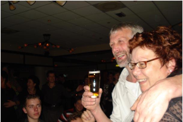 Wim en ik tijdens 25- jarig huwelijksfeest